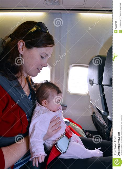 10 Tips For Flying With Baby Or Flights Carry Infant Baby During Flight Stock Image Image 45298153