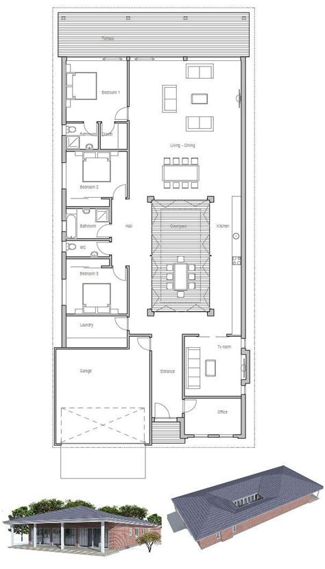 Narrow Home Plans by 74 Best Narrow House Plans Images On Floor