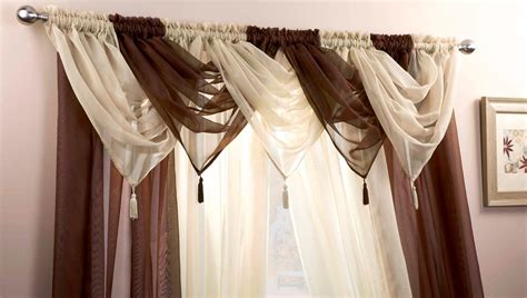 decorative curtain voile swag swags tassle decorative net curtain drapes
