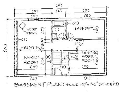 house layout drawing basement floor plan drawing requirements