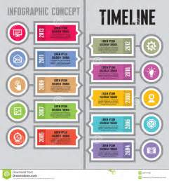 infographic vector concept in flat design style timeline