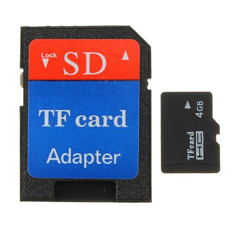Memory Card Visipro 4gb 4gb micro sd tf sdhc secure digital high speed flash memory card class 4 adapter alex nld