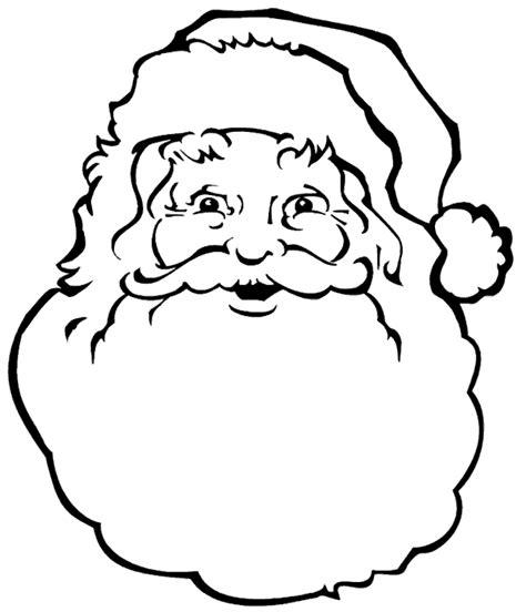 free coloring pages of santa s face free christmas coloring page santa