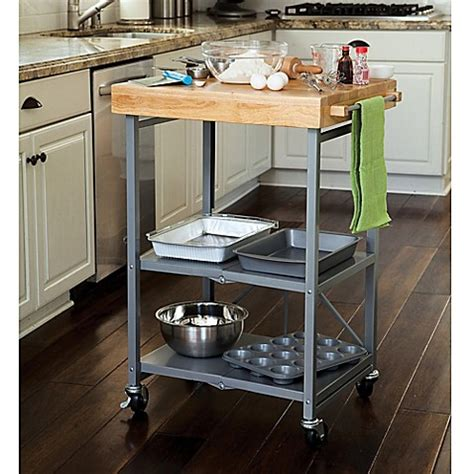 Origami Kitchen Products - buy origami kitchen cart in grey from bed bath beyond
