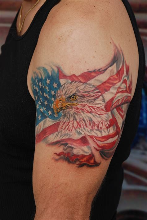 eagle cross tattoo american flag tattoos designs ideas and meaning tattoos