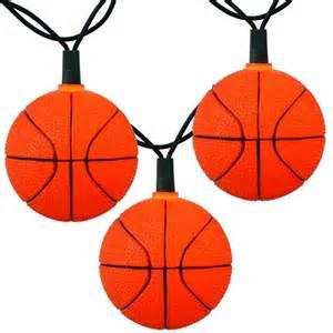 sports string lights bunch o basketballs string lights sports string