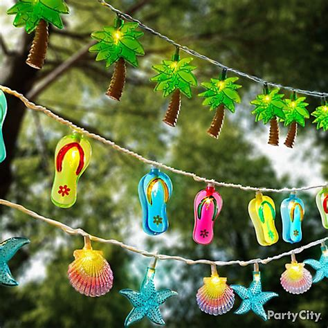 Tropical string lights ideas summer pool party ideas summer party ideas theme party ideas