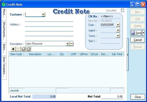 Credit Note Format For Discount Sql Account Sql Accounting Sql Financial Accounting