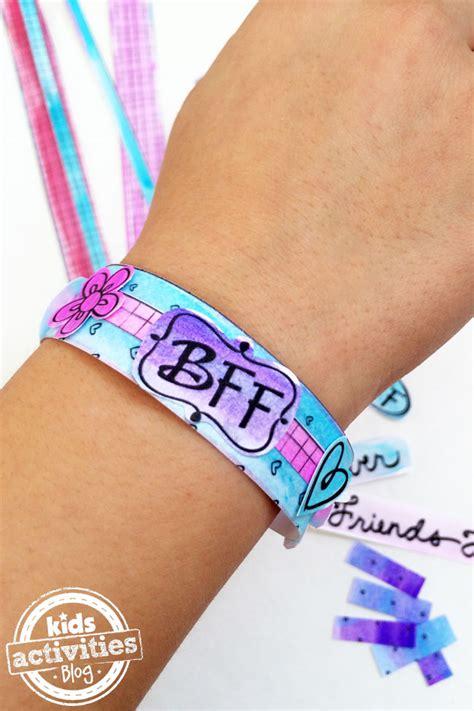Color and Make BFF Bracelets Printable