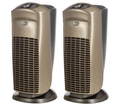 set of 2 quietflo hepa tower air purifiers with