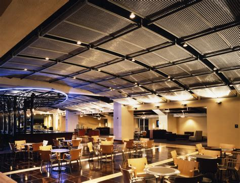 mesh interieur ravens sports club ceiling lighting panels banker wire