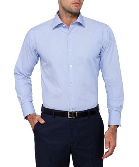 light blue shirt heusen studio solid light blue shirt mens