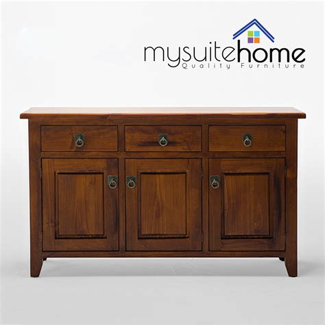 julian new solid pine timber 3 storage drawers and 3