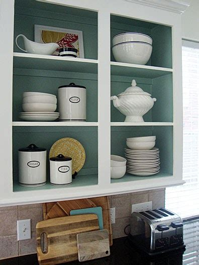do you paint the inside of kitchen cabinets libbie grove design kitchen shelving