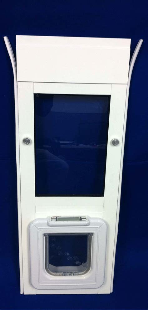 The Elite Super Selective Side Sliding Window Insert Sliding Glass Cat Door Insert