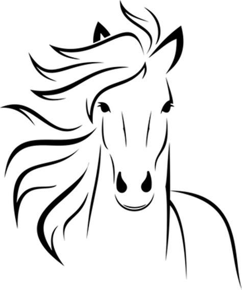 heste tegninger man kan printe ud og male