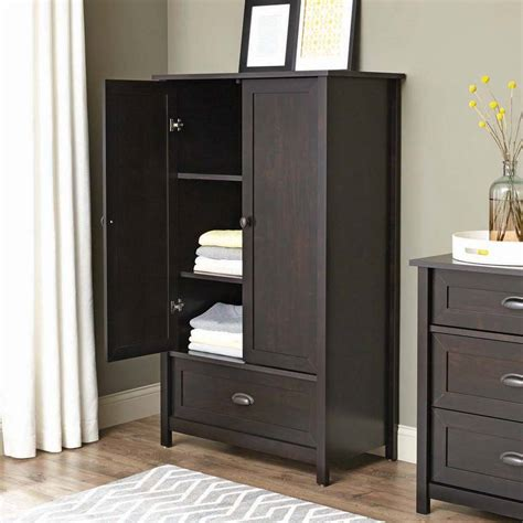 armoire ideas armoire elegant espresso armoire wardrobe ideas 4 door