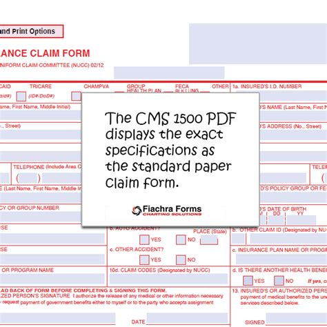 Cms 1500 Template Cms 1500 Pdf With Form Calculations Fiachra Forms Charting Solutions