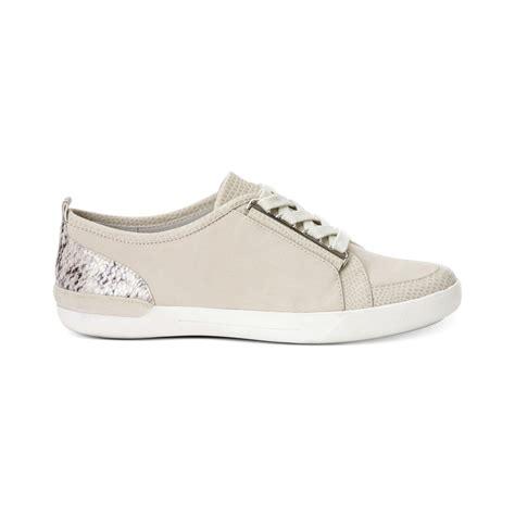 calvin klein sneakers womens calvin klein womens tanita sneakers in gray lyst