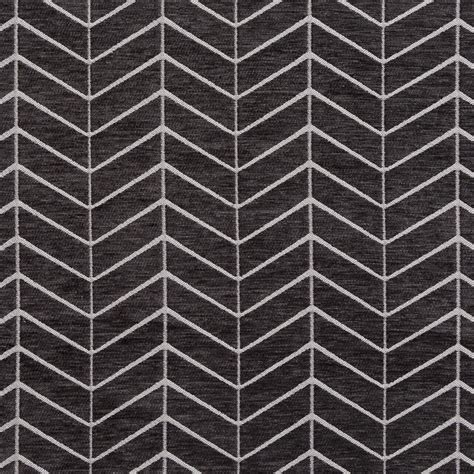 black and grey upholstery fabric black and gray abstract chevron flame stitch chenille
