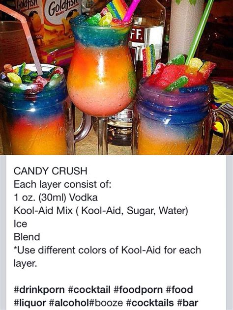 alcoholic drinks at a candy cooler cocktail