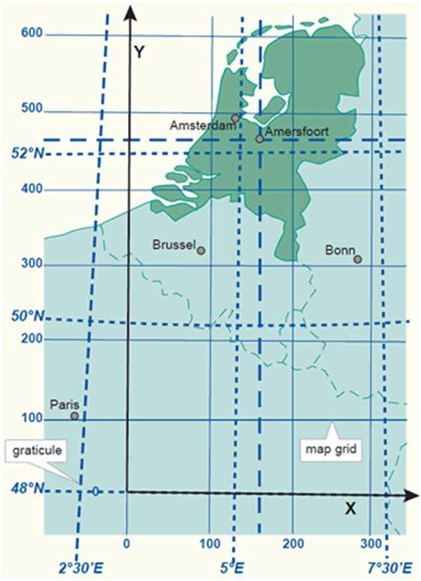 netherlands latitude longitude map coordinate systems