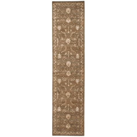 10 X 2 5 Rug - nourison silk elements 2 5 quot x 10 cocoa runner rug