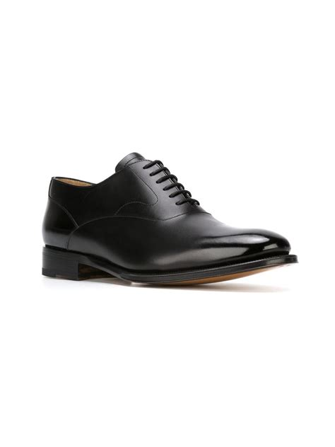 Gfa 21 Lace Valentino Classic Shoes 1 lyst valentino classic oxford shoes in black for