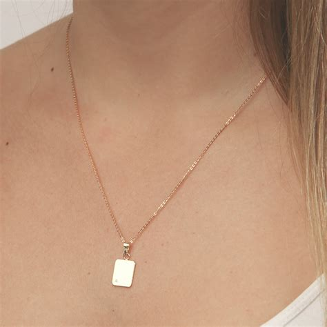 vertical gold bar necklace dainty small layering necklace