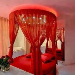 Red Canopy Bed romantic valentine s day bedroom d 233 cor ideas decozilla