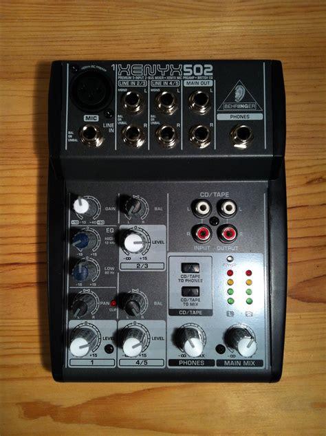 Mixer Behringer Xenyx 502 behringer xenyx 502 image 803032 audiofanzine