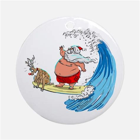 Personalized Wall Stickers gifts for santa claus christmas cartoon surf surfing ru