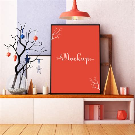Free Room Interior Poster Mock Up Psd