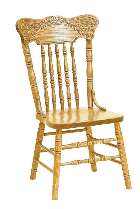 amish pressed back oak dining chair