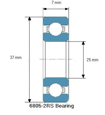 Bearing 6805 Nsk 6805 2rs bearing drawing