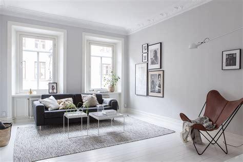 interiores nordicos en gris en  departamento de  ambientes
