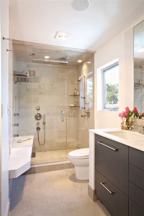 luxury small bathrooms contemporary small luxury bathroom design with compact size shower area and dark wood