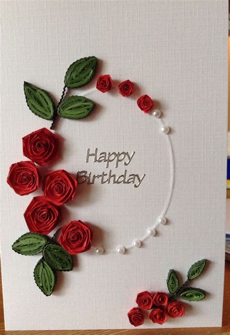 How To Make Paper Quilling Greeting Cards - 25 best ideas about quilled roses on quilling