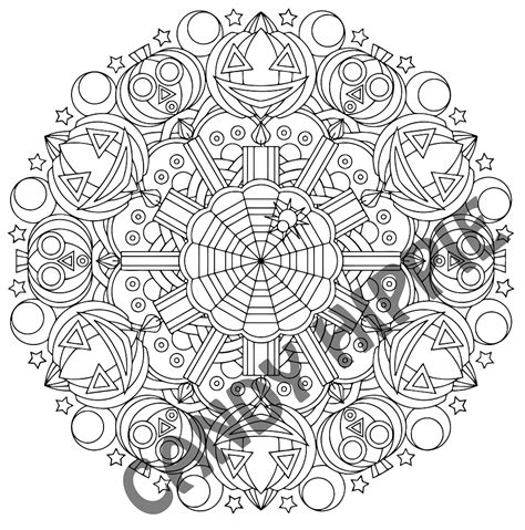 pumpkin mandala coloring pages whacko jack o halloween pumpkin coloring page by candy