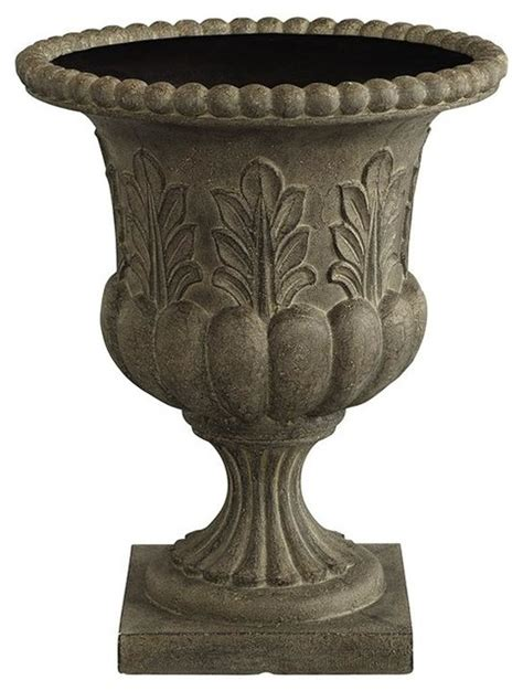 Outdoor Urns And Planters Acanthus Urn Planter Traditional Outdoor Pots And Planters