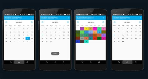 android studio calendar tutorial custom calendar view library in android stacktips