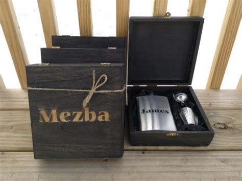 country wedding 8 groomsmen gift flask sets personalized engraved cigar box set of 4 with flask shot glass set