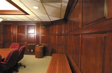 Cherry Wainscoting Panels by Installed Wainscoting Commercial
