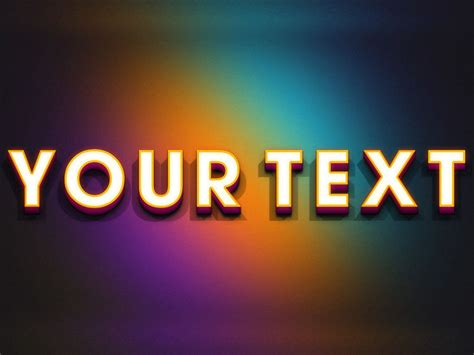 online design of text create 3d text on rainbow online