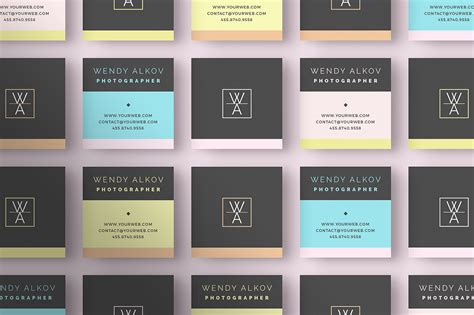 square card templates square business card template inspiration cardfaves