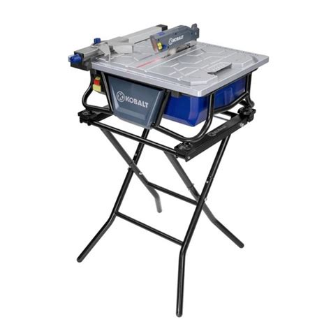 bench tile saw kobalt 7 quot bench tile saw with stand item 325791 model