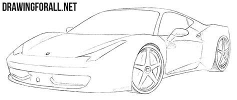 ferrari 458 sketch how to draw a ferrari 458 italia drawingforall net