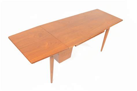 drop leaf table with storage danish modern mid century teak drop leaf coffee table with