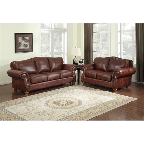 Leather Sofa Loveseat Brandon Distressed Whiskey Italian Leather Sofa And Loveseat Ebay