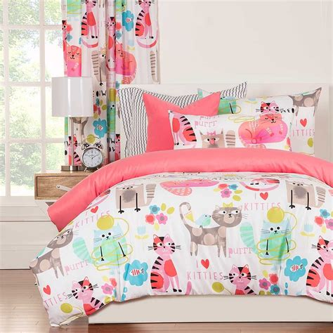 cat comforter sets crayola purrty cat comforter set full size blanket